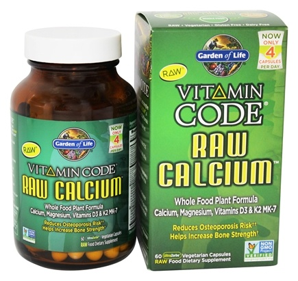 Garden of Life - Vitamin Code RAW Calcium - 60 Vegetarian Capsules