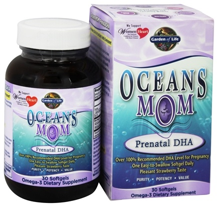 Garden of Life - Oceans Mom Prenatal DHA 350 mg. - 30 Softgels