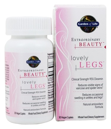 Garden of Life - Extraordinary Beauty Lovely Legs - 30 Vegetarian Caplet(s)