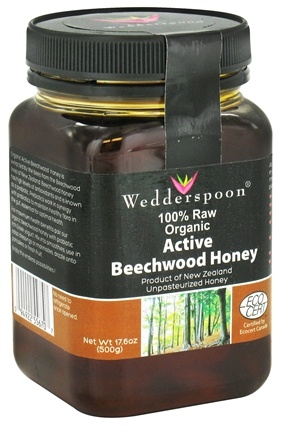 Wedderspoon Organic - Beechwood Honey 100% Raw Organic - 17.6 oz.