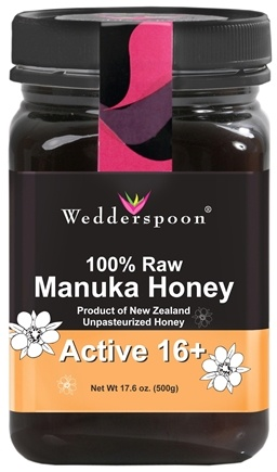 Wedderspoon Organic - Manuka Honey Premium Unpasteurized Active 16+ - 17.6 oz.