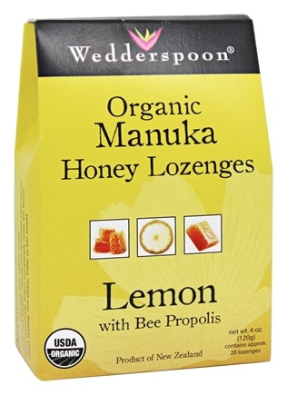 DROPPED: Wedderspoon Organic - Organic Manuka Honey Lozenges Lemon with Bee Propolis - 4 oz.