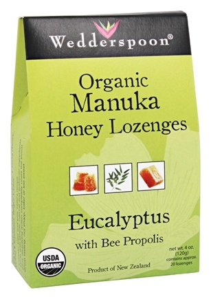 Wedderspoon Organic - Honey Lozenges Manuka with Bee Propolis Eucalyptus - 4 oz.