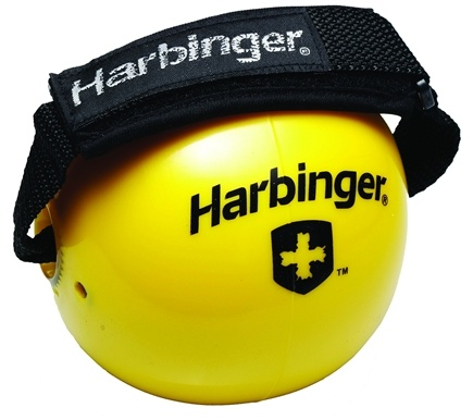 DROPPED: Harbinger - Weighted Fitness Ball With Velcro Strap Yellow - 2 lbs.