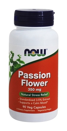 NOW Foods - Passion Flower Extract 350 mg. - 90 Vegetarian Capsules