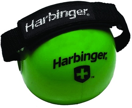 DROPPED: Harbinger - Weighted Fitness Ball With Velcro Strap Green - 4 lbs. CLEARANCE PRICED