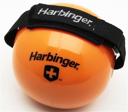 DROPPED: Harbinger -  6- Pound Weighted Fitness Ball With Velcro Strap- Orange - WINTER SPECIAL
