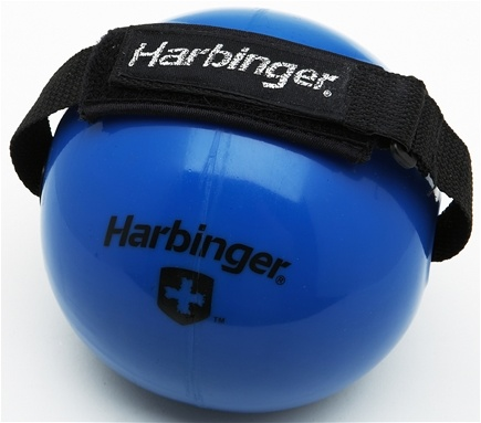 DROPPED: Harbinger - Weighted Fitness Ball With Velcro Strap Blue - 10 lbs. CLEARANCE PRICED