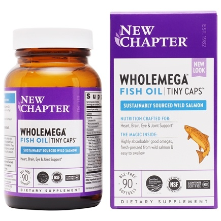 New Chapter - Wholemega 100% Wild Alaskan Salmon Omega-Rich Fish Oil For Heart Health 500 mg. - 90 Softgels LUCKY PRICE