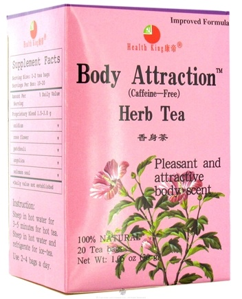 DROPPED: Health King - Body Attraction Herb Tea - 20 Tea Bags CLEARANCE PRICED