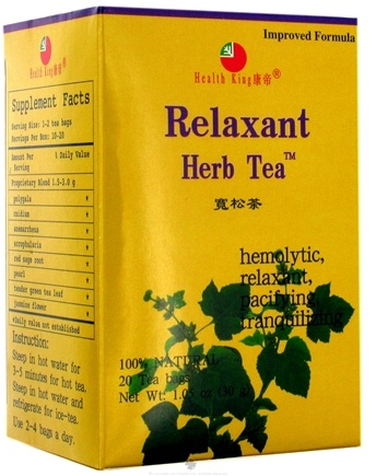 DROPPED: Health King - Relaxant Herb Tea - 20 Tea Bags CLEARANCE PRICED