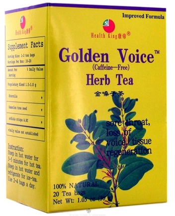 DROPPED: Health King - Golden Voice Herb Tea - 20 Tea Bags CLEARANCE PRICED
