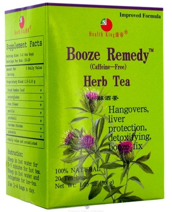 DROPPED: Health King - Booze Remedy Herb Tea - 20 Tea Bags CLEARANCE PRICED