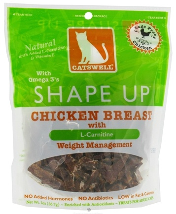 DROPPED: Dogswell - Catswell Shape Up Chicken Breast With L-Carnitine Weight Management - 2 oz. CLEARANCE PRICED