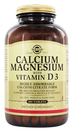 Solgar - Calcium Magnesium with Vitamin D3 - 300 Tablets