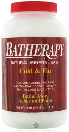 DROPPED: Queen Helene - Batherapy Natural Mineral Bath Cold & Flu Salt - 16 oz.