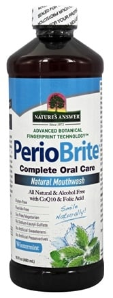 Nature's Answer - PerioBrite Alcohol-Free Mouthwash Wintermint - 16 oz. Formerly Periowash
