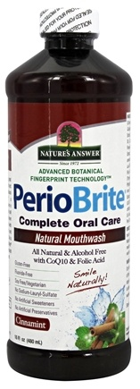 Nature's Answer - PerioBrite Alcohol-Free Mouthwash Cinnamint - 16 oz. Formerly Periowash