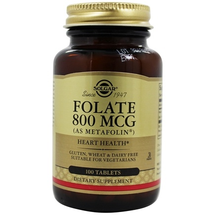 Solgar - Folate As Metafolin 800 mcg. - 100 Tablets