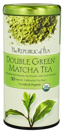 DROPPED: The Republic of Tea - Double Green Matcha Tea - 50 Tea Bags CLEARANCE PRICED