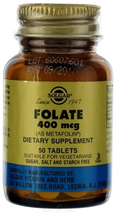 DROPPED: Solgar - Folate As Metafolin 400 mcg. - 50 Tablets CLEARANCE PRICED