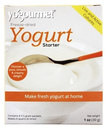 Yogourmet - Freeze-Dried Yogurt Starter & Creme Bulgare Starter Set - 6 x 5g Packets