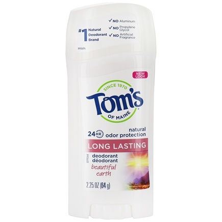 Tom's of Maine - Natural Deodorant Stick Women's Long-Lasting Beautiful Earth - 2.25 oz.