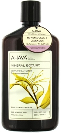 DROPPED: AHAVA - Mineral Botanic Velvet Cream Wash Honeysuckle & Lavender - 17 oz. CLEARANCE PRICED