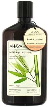 DROPPED: AHAVA - Mineral Botanic Velvet Cream Wash For Very Dry Skin Bamboo & Pansy - 17 oz. CLEARANCE PRICED