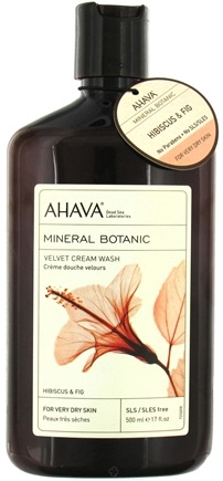 DROPPED: AHAVA - Mineral Botanic Velvet Cream Wash Hibiscus & Fig - 17 oz. CLEARANCE PRICED