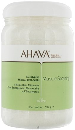 DROPPED: AHAVA - The Source Mineral Bath Salts Muscle Soothing Eucalyptus - 32 oz.