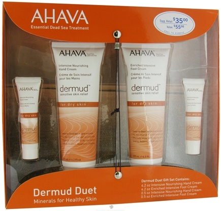 DROPPED: AHAVA - Dermud Sensitive Skin Relief Duet Gift Set Minerals For Healthy Skin - CLEARANCE PRICED