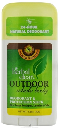 DROPPED: Herbal Clear - Outdoor Whole Body Deodorant & Protection Stick - 1.8 oz.