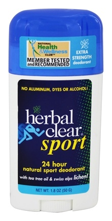 Herbal Clear - Sport Deodorant Stick with Tea Tree Oil & Swiss Alps Lichen - 1.8 oz.