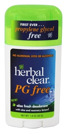 Herbal Clear - PG Free Deodorant Stick with Aloe and Rosemary Lemon - 1.8 oz.