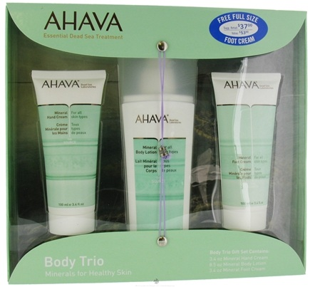 DROPPED: AHAVA - Body Trio Gift Set Minerals For Healthy Skin - CLEARANCE PRICED