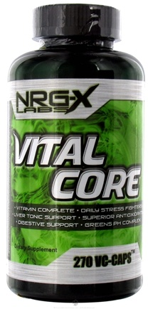 DROPPED: NRG-X labs - Vital Core - 270 Capsules CLEARANCE PRICED