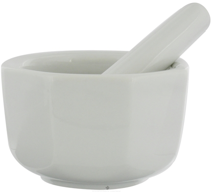 DROPPED: Harold Import - Mortar and Pestle Porcelain Octagonal White - 2.5 in. CLEARANCE PRICED