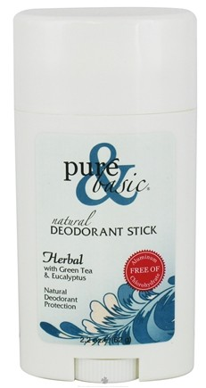 DROPPED: Pure & Basic - Natural Deodorant Stick Herbal With Green Tea & Eucalyptus - 2.2 oz. CLEARANCE PRICED