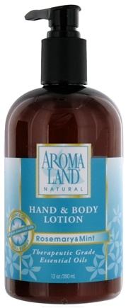 DROPPED: AromaLand - Natural Hand & Body Lotion Rosemary & Mint - 12 oz. CLEARANCE PRICED
