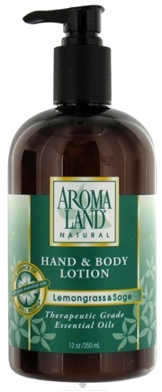 DROPPED: AromaLand - Natural Hand & Body Lotion Lemongrass & Sage - 12 oz. CLEARANCE PRICED