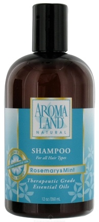 DROPPED: AromaLand - Natural Shampoo For All Hair Types Rosemary & Mint - 12 oz. CLEARANCE PRICED