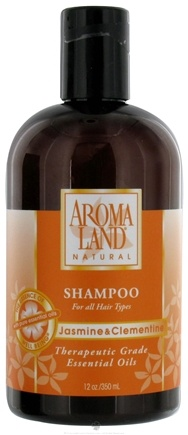 DROPPED: AromaLand - Natural Shampoo For All Hair Types Jasmine & Clementine - 12 oz. CLEARANCED PRICED