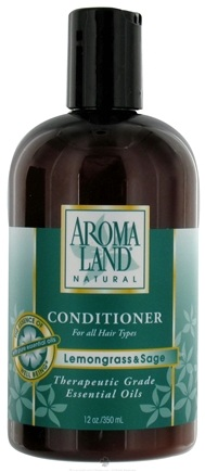 DROPPED: AromaLand - Natural Conditioner For All Hair Types Lemongrass & Sage - 12 oz. CLEARANCE PRICED