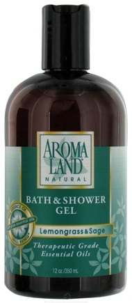 DROPPED: AromaLand - Natural Bath & Shower Gel Lemongrass & Sage - 12 oz. CLEARANCE PRICED