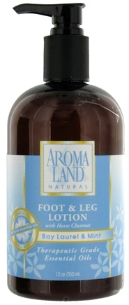 DROPPED: AromaLand - Natural Foot & Leg Lotion With Horse Chestnut Bay Laurel & Mint - 12 oz.