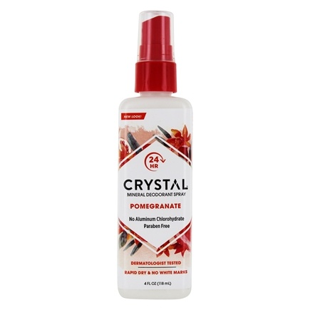 Crystal Body Deodorant - Crystal Essence Mineral Deodorant Body Spray By French Transit Pomegranate - 4 oz.