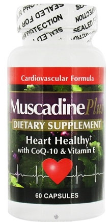 DROPPED: Muscadine Naturals - Muscadine Plus Heart Healthy with CoQ-10 & Vit. E - 60 Capsules CLEARANCE PRICED