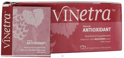 DROPPED: Muscadine Naturals - Vinetra Natural Antioxidant 1000 mg. - 30 Packet(s) CLEARANCE PRICED
