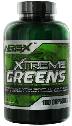 DROPPED: NRG-X Labs - Xtreme Greens - 180 Capsules CLEARANCE PRICED